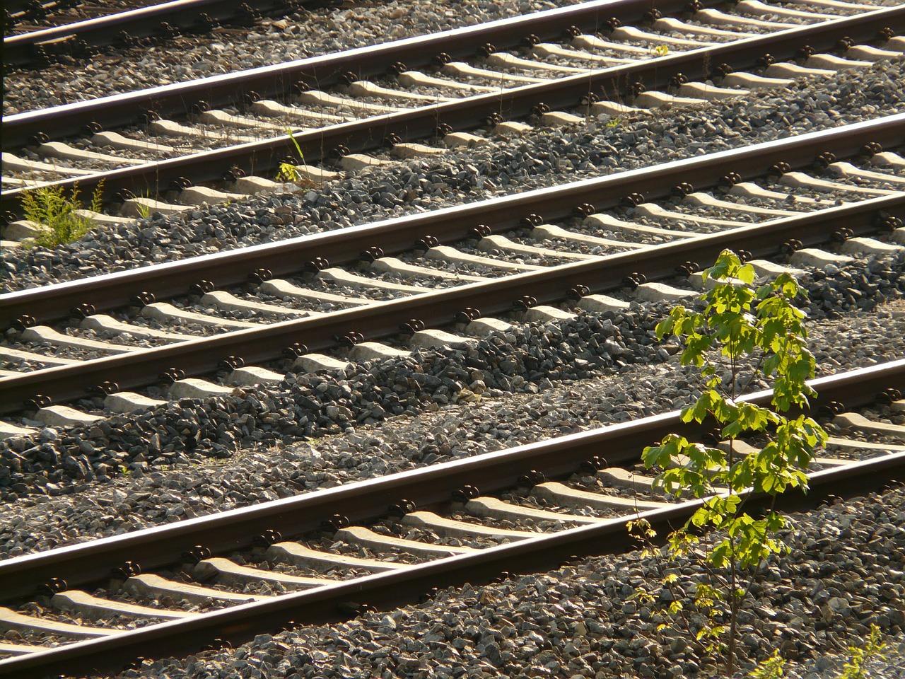 Eisenbahn-Schienen